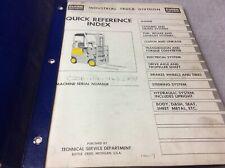 Clark Equipment C20b Parts Book Manual Forklift