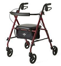 Medline Steel Rolling Rollator Walker with Seat and 6-inch Wheels Plus Basket