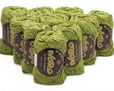 10 x 50g Lime Verde / Multicolore noro tokonatsu-SH 25 cotone e seta DK