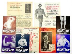 GEORGE F JOWETT 1930-38 Rare Bodybuilding Booklets + Ephemera Strength & Health