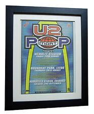 U2+Pop Mart Tour+POP+POSTER+AD+RARE ORIGINAL 1997+FRAMED+EXPRESS GLOBAL SHIP