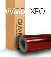 Red Chrome XPO car vehicle vinyl wrap film 10ft x 5ft air release VViViD