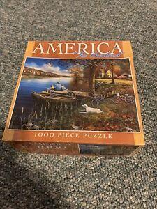 America The Heartland 1000 Piece Puzzle Used