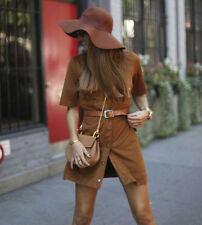 Zara Patternless Short Sleeve Casual Dresses for Women