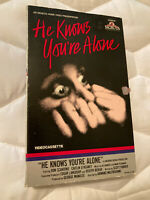 He Knows You're Alone VHS Slasher 1980 Big Box RARE OOP HORROR