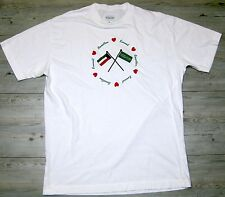 United Colors of Benetton Kuwait t-shirt vintage flag heart XL made in italy