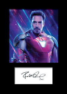 ROBERT DOWNEY JR #4 A5 Signed Mounted Photo Print - FREE DELIVERY