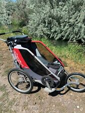 Thule Chariot Cougar 2 Stroller with jogging and bike trailer kits