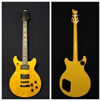 Haze Solid Basswood+Ash Burl Veneer Electric Guitar,HH,Set-Neck+Gig Bag 280BNABH