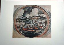 Stampa GEORGES ROUAULT Paesaggio (la cavalcata) Grafica Arte Edizioni Seat 1988