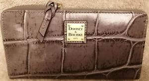 Dooney & Bourke Croco Embossed Leather Wallet-Pembrook