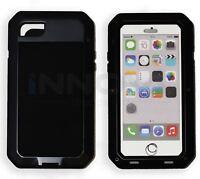 Iphone 7 Case HD Shockproof Tough Metal Anti Shock Proof Hybrid [BLACK]