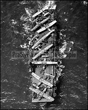 USN Escort Carrier USS Thetis Bay CVE-90 Near Pearl Harbor 1944 8x10 Photos
