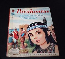 Pocahontas Little Indian Girl of Jamestown Vtg Childrens Book 1957 1950s  --CCX