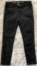 Women's Rebel By Right Brand Black Rinse, Low-Rise, Distressed Denim Jeans-sz 5