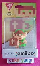 FIGURINE AMIIBO LINK PIXEL THE LEGEND OF ZELDA 30TH Wii U NEUVE NEW NINTENDO
