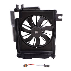 A/C Condenser Cooling Fan & Adapter for 02-08 Ram 1500 03-09 2500 3500 Pickup