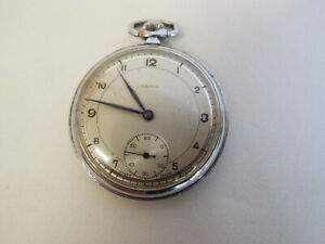 Attractive Olma keyless wind pocket watch for spares or repair.