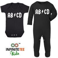 ABCD Baby Grow - Funny Heavy Metal Newborn Rock Music Christmas Boys Girls Gift