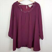 [ BEME ] Womens Embellished Blouse Top | Size AU 22 or US 18