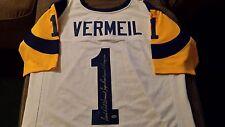 LEAF DICK VERMEIL XL AUTOGRAPHED JERSEY SEWN LETTERS/PATCHES XXXIV INSCRIPTION