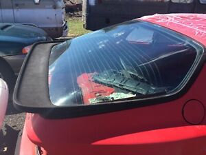 83-91 PORSCHE 944 951 REAR HATCH  GLASS WITH SPOILER OEM USED