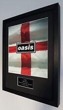 Oasis Framed Original Knebworth Programme-Plaque-Certificate-Noel Gallagher