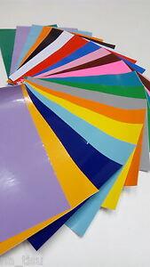 20 sheets SELF ADHESIVE VINYL FOIL kids craft stickers 300x200mm DIY HOME DECOR