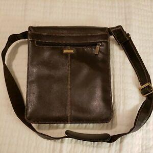 Visconti London Genuine Brown Leather Messenger Shoulder Tablet Bag 18410 Brown