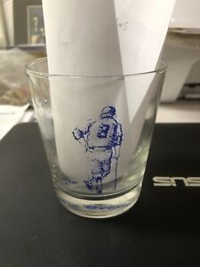 "Yankees Yogi Berra Restaurant Drinking Glass ""It ain't over till it's over"""