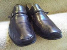 BRUNO MAGLI  Campo $84510 Black Buckle Slip-On Shoes Hand Made In Italy 11 1/2 W