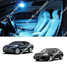 8x Aqua Ice Blue Interior LED Package Kit Dome Map light For Chevy impala L314IB