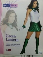 GREEN LANTERN FEMALE ADULT COSTUME SIZE SMALL (6-9) SECRET WISHES RUBIES