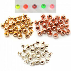 Brass Fly Tying Beads. Standard Colours & Hot Colours. 50 packs and 1000 packs.