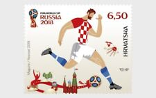 CROATIA 2018 FIFA WORLD CUP FINAL IN RUSSIA STAMP MNH