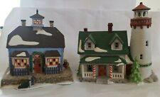 Dept 56 New England Village Series Craggy Cove Lighthouse & Chowder House w/ box