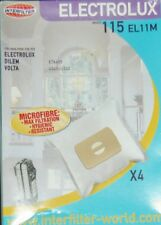 115 EL11M INTERFILTER 4 sacs microfibre pour aspirateur ELECTROLUX DILEM VOLTA