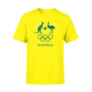 AOC Australian Olympic Adults Supporter Cotton T-Shirt/Tee/Top Sport GLD
