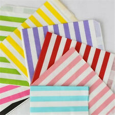25 Pcs Stripe Candy Packaging Paper Bag Party Birthday Wedding Favor Gift Decor