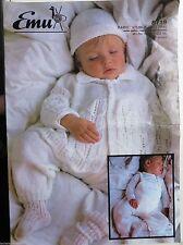 Emu Pram suit Baby Knitting leaflet no. 8719