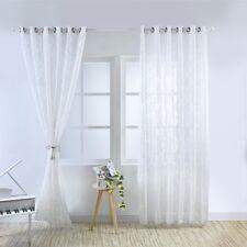 Home Modern Curtains Balcony Bedroom Kitchen Decor Window Sheer Drapes Washable