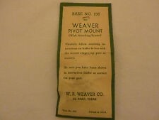 Vintage NOS Weaver Pivot Mount # 136 BSA Remington, Weatherby