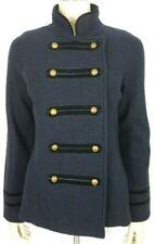 Zara dark blue 100% Wool double breasted Military Jacket Blazer ladies Large