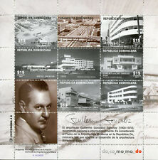 Dominican Rep 2017 MNH Guillermo Gonzalez Sanchez 6v M/S Architecture Stamps