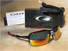 NIB OAKLEY TRIGGERMAN 9266-10 Black Ink Ruby Iridium Lens Sunglass