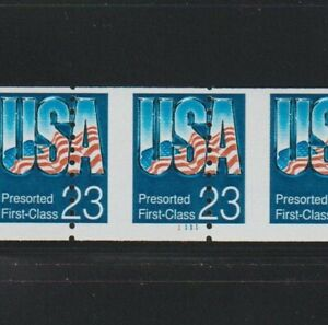 US EFO, ERROR Stamps #2607 Chrome USA Perf shift PS6 #1111 PNC Low gloss  MNH