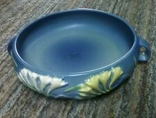 "Roseville 465-8"" Handled Blue Console Bowl"