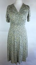 Long Tall Sally Dot Print Mock Wrap Stretch Jersey Shift Dress UK 10 (R)