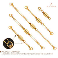 5pcs Necklace Bracelet Extender Safety Chain Set 3-6'' Jewelry Lobster Clasp