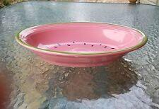 """FIESTAWARE 12.1"""" deep oval vegetable bowl  WATERMELON fiesta ROSE 52oz"""